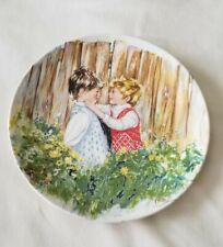 """""""Be My Friend"""" 1981 Wedgwood Queen's Ware Limited Edition Plate by Mary Vickers"""