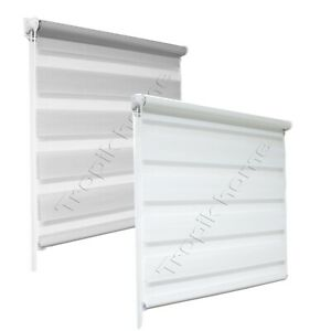 Day and Night Zebra Window Roller Blinds 2 Colours 16 Width Sizes,150cm Drop