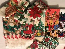 5 Christmas Kitchen Hand Towels & 2 Pot holder & 2 dish cloths