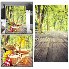 3x5FT Studio Wooden Floor Forest Photography Backdrop Scenic Photo Background