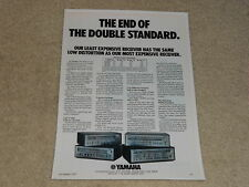 Yamaha CR-1000, CR-800, CR-600, CR-400 Receiver Ad, 1975, 1 pg, Specs, Article