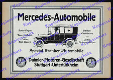 Mercedes-Benz Krankenwagen DMG Rotes Kreuz Armee Auto 1.Weltkrieg Stuttgart 1914