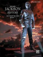 Michael Jackson HIStory Past Present and Future Book 1 Sheet Music Pia 000322285