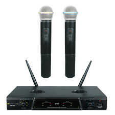 Wm-300 Vhf Dual Recharge Karaoke Wireless Microphone