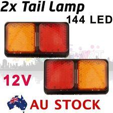 2X 12V 72 LED LED Tail Lights Red amber Ute Trailer Truck Car Caravan AU ship