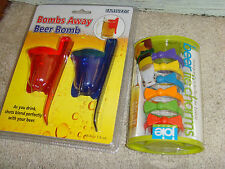 Bombs Away Beer Bomb Set and Beer bow tie charms bar gift set pair NEW NWT fun