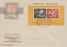DDR 1950 Block 7 Debria Ersttagsbrief FDC