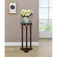 New listing Wooden Indoor Plant Stand Marble Top Telephone Table Pedestal Living Room Patio