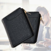 Simple Bifold Faux Leather Men Purse Card Cash Holder Short Wallet Gift Durable