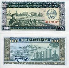 Lao Laos 1979 100 Kip UNC Uncirculated Communist Banknote Currency Money