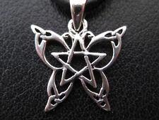 Schmetterling Pentagramm Silber 925'er Ketten Anhänger weissmagisch     / KA 074