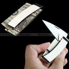EDC Outdoor Multi Pocket Knife Stainless steel folding knife wallet Money Clip