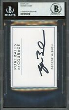 President George W. Bush Signed Bookplate Autographed Beckett Bas Auto