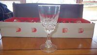 Lead Crystal Wine Glasses Pompadour by Cristal D'Arques France 6 5.74oz
