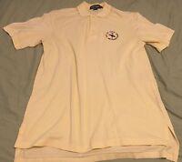 Ralph Lauren Polo Golf Shirt Yellow U.S. Open Bethpage 2002 M Free Shipping MINT