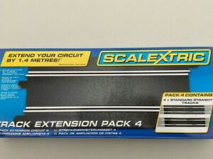 Scalextric C8526 Track Extension Pack 4  4 Standard Straights NEW