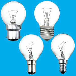 8x Clear Golf Round Dimmable Standard Light Bulb 25W 40W 60W BC ES SBC SES Lamps