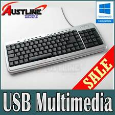 USB Deluxe Multimedia Keyboard Super Durable Wired Windows10 PS2 *60%OFF  21S