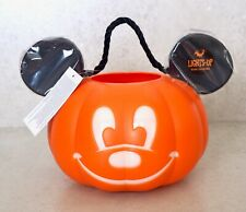 Disney Mickey Mouse Light Up Halloween Pumpkin Trick or Treat Pail Bucket - New