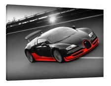 Bugatti Veyron 30x20 Inch Canvas Art Work - Framed Picture Print