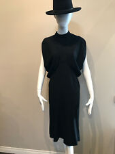 Yves Saint Laurent Tom Ford Sz 36 Black Acetate Dress Vintage