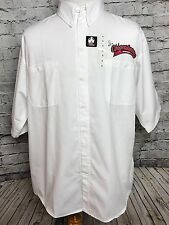 Vintage Alice Cooper Cooperstown Denver Restaurant Button Up Shirt Sz L