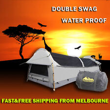 2015 NEW Double Swag Camping Swags Waterproof Canvas Tent Deluxe Aluminum Poles