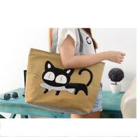 Popular New Style Shoulder Bag Cartoon Cat Eat Fish Practical Item Handbag Hot F