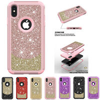 Bling Glitter Hybrid Rubber Shockproof Back Case Cover For iPhone XS Max/XR/7/8