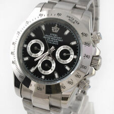 Steel Bagelsport Analog Automatic Mechanical Men Wrist Watch Black Dail Gift