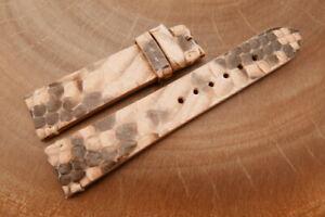 20mm/18mm Beige Genuine PYTHON Skin Leather Watch Strap Band