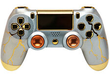 """GOLD THUNDER"" PS4 RAPID FIRE MODDED CONTROLLER 35 MODS COD BO3 AW GHOSTS"