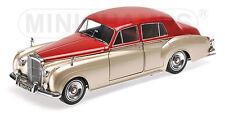 Bentley S2 1960 Silver & Dark Red 1:18 Model MINICHAMPS