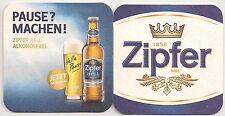 """Zipfer Bier - """"Zipfer hell - alkoholfrei"""" Bierdeckel"""