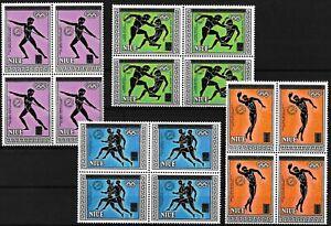 [P15662] Niue 1985 : Olympics - 4x Good Set Very Fine MNH Overprinted Stamps