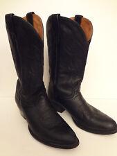 El General Cowboy Boots Mens Size 10 Black 1114133 Leather Western /S4