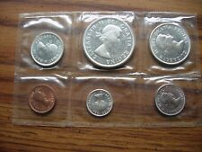 Canadian Mint Set from 1963 90% Silver Dime Quarter & Dollar Uncirculated LQQKY!