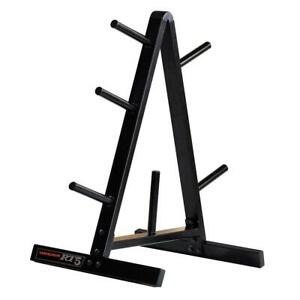 Weider Weight Plate and Barbell Storage Rack - Compact Design 210 Lbs Max Weight