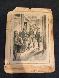 Original HERBERT MORTON STOOPS ILLUSTRATION Employment 1932 American Legion