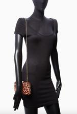FURLA Genuine Clutch Handbag Evening Opera hair CROSSBODI leopard Authentic