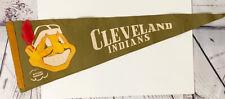 Vintage Official Cleveland Indians Felt Baseball Pennant 1940's 1950's Sports