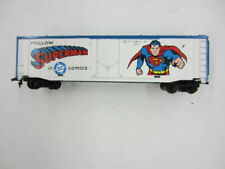 Vintage Tyco HO Scale SUPERMAN 50' Freight Train Box Car