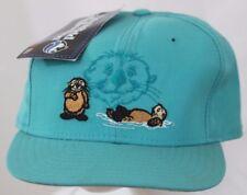 Sea World Collection O.P. Otter New Era Baseball Cap Teal Low Profile Hat