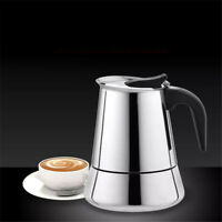 Portable Espresso Coffee Maker Pot Stainless Steel Coffee Brewer Kettle