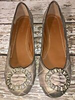 Madison Whitney 10 Medium Ballet Flats Loafers Slip-on Quilted Beige Leather