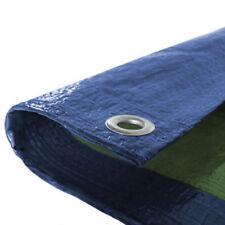 3.5M X 5.4M BLUE/GREEN BUDGET WATERPROOF TARPAULIN WITH EYELETS