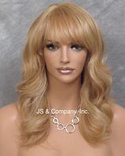 Human Hair Blend Wig HEAT SAFE Soft Wavy Layered Feathered Blonde mix ST 27-613