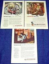 Lot of 3 AIR REDUCTION Ads ~ 1945 AIRCO Welding,Welder,Surgeon,Anesthesiologist