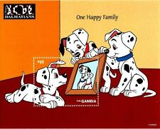 Gambia - Disney Stamps 101 Dalmatians One Happy Family Souvenir Sheet  MNH