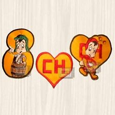 Chavo del 8 Patches Set TV Show Logo Chapulin Colorado Chespirito Embroidered